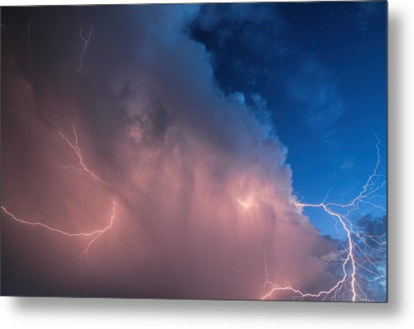 Thunder God Approaches Metal Print