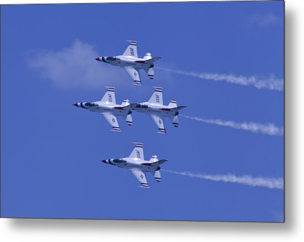 Thunderbirds Diamond Formation Topsides Metal Print