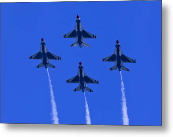 Thunderbirds Diamond Formation Undersides 2 Metal Print