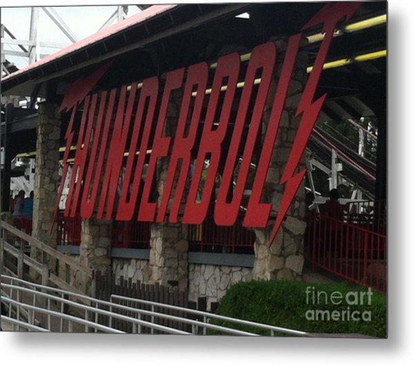 Thunderbolt Roller Coaster Metal Print