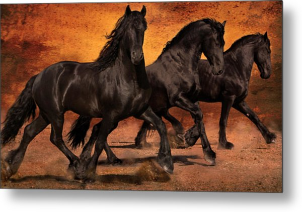 Thundering Hooves Metal Print