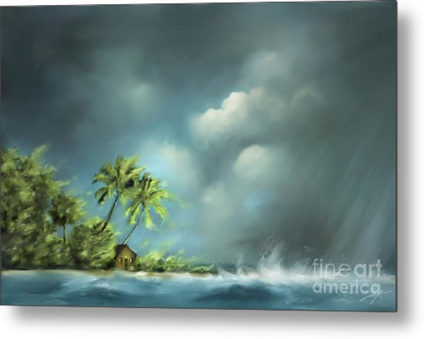 Thunderstorm At Jupiter Beach Metal Print