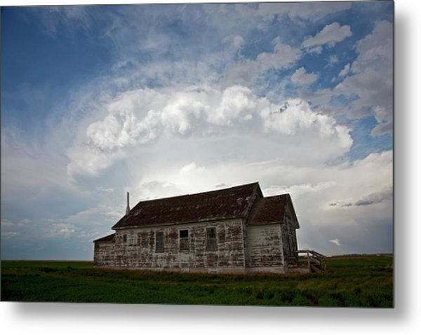 Thunderstorm Over An Old Church Metal Print