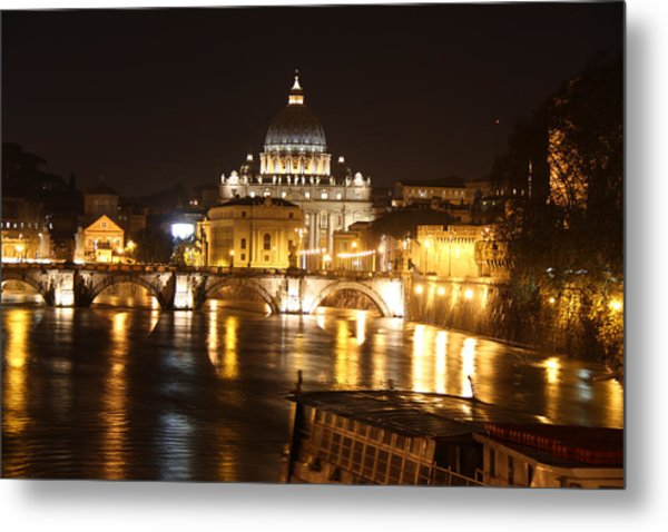 Tiber Night Metal Print