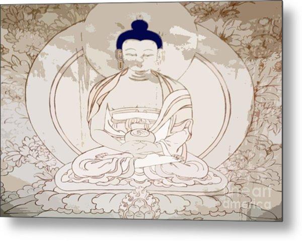 Tibet Buddha Metal Print