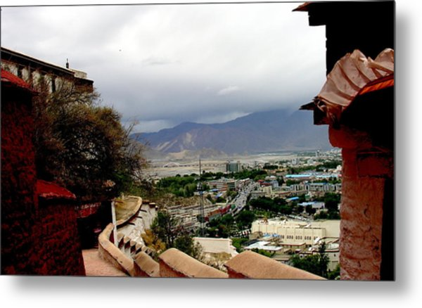 Tibet   Lhasa - Potala Palace - View Of The Dalai Lama Metal Print by Jacqueline M Lewis