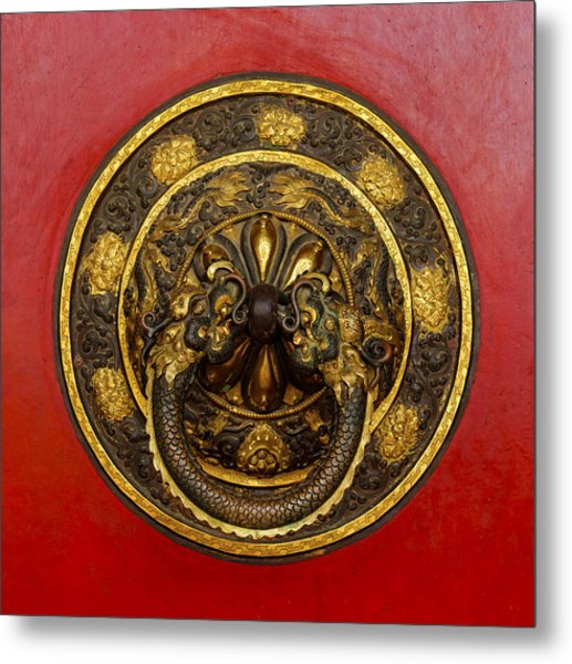 Tibetan Door Knocker Metal Print