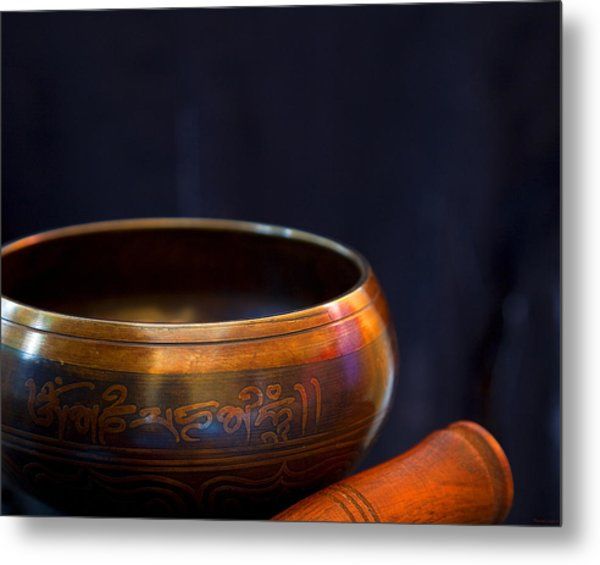 Tibetan Singing Bowl Metal Print