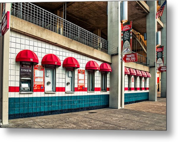 Ticket Windows Metal Print