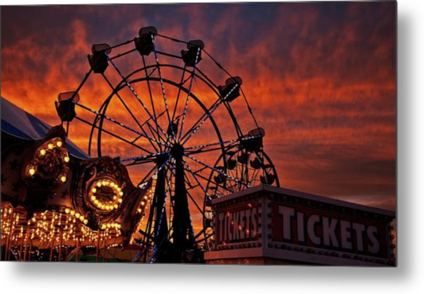 Tickets To Ride Metal Print