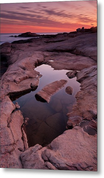 Tide Pool Geometry Metal Print