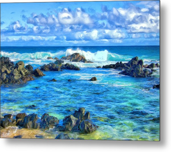Tide Pool Near Hana Maui Metal Print