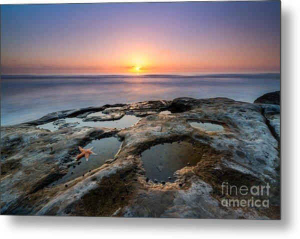 Tide Pool Sunset Metal Print