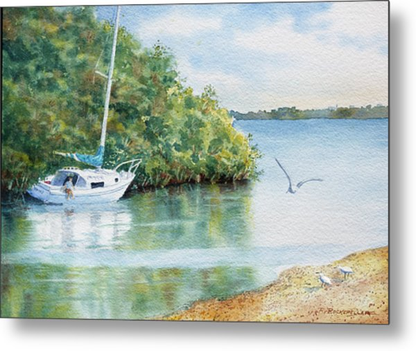 Tide's Out Metal Print