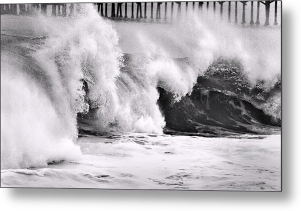 Tides Will Turn Bw By Denise Dube Metal Print
