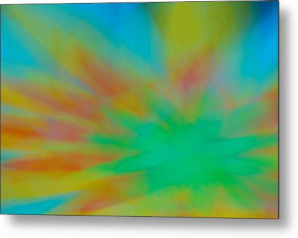 Tie Dye Abstract Metal Print