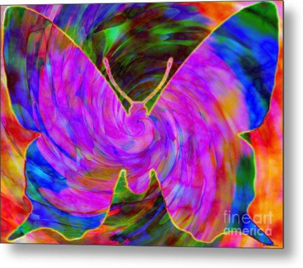 Tie-dye Butterfly Metal Print
