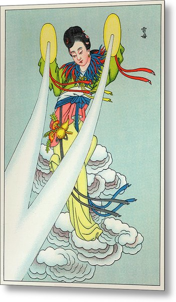 Tien-mou The Mother Of Lightning Metal Print by Mary Evans Picture Library