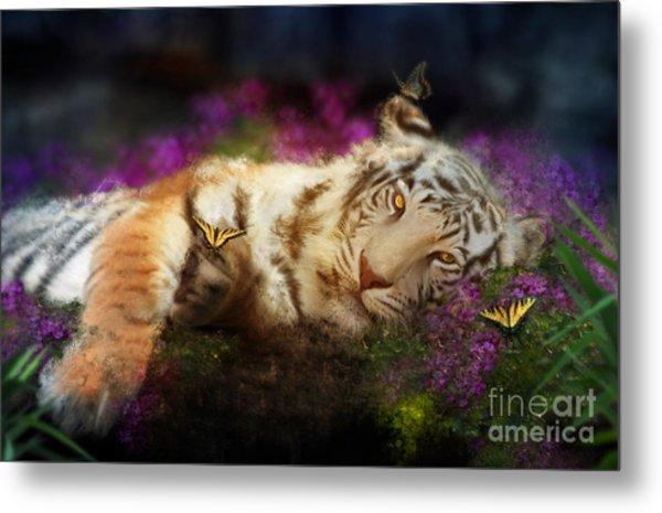 Tiger Dreams Metal Print