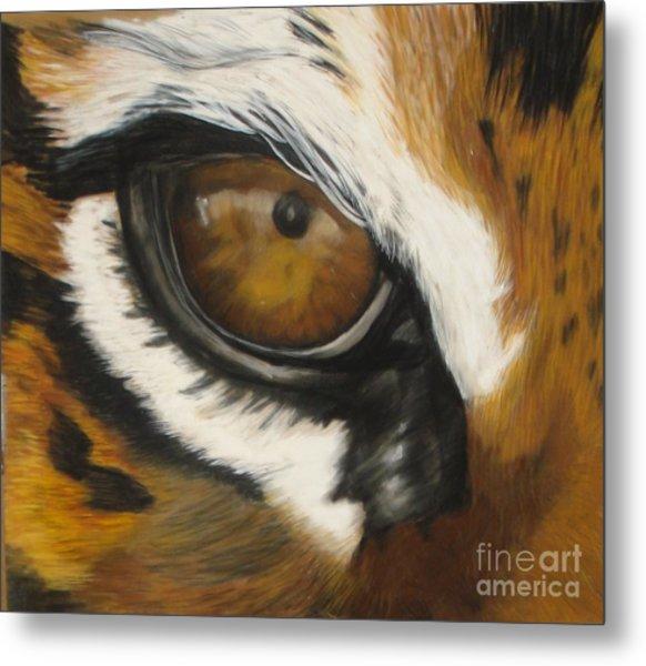 Tiger Eye Metal Print by Ann Marie Chaffin