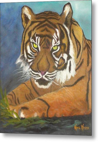 Tiger One Metal Print by  Kathie Kasper