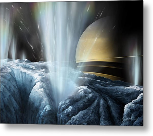 Tiger Stripes The Icy Jets Of Enceladus Metal Print