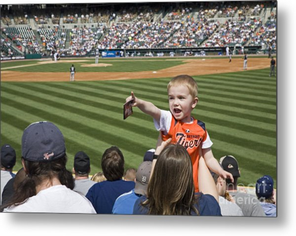 Tigers Fan Metal Print