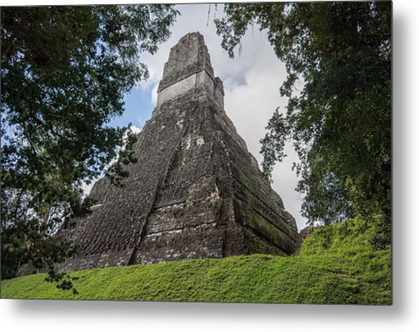 Tikal Pyramid 1b Metal Print
