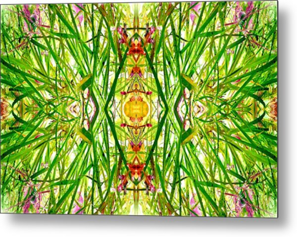 Tiki Idols In The Grass  Metal Print