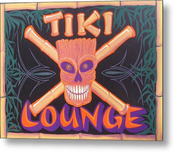 Tiki Lounge Metal Print