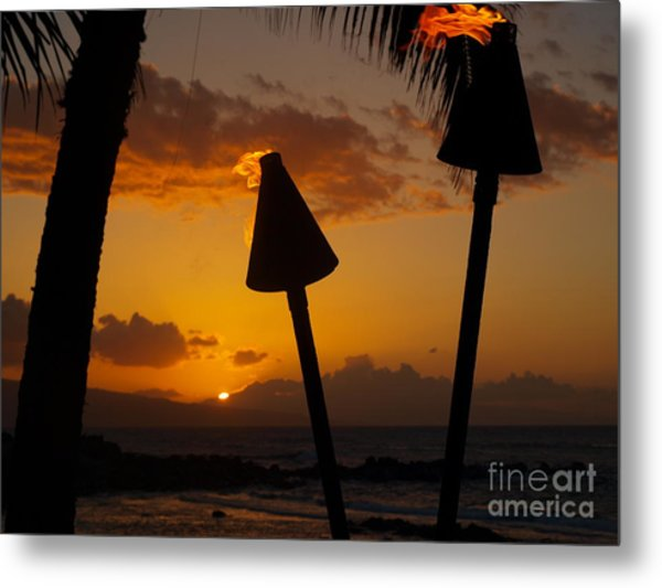 Tiki Time In Maui Metal Print