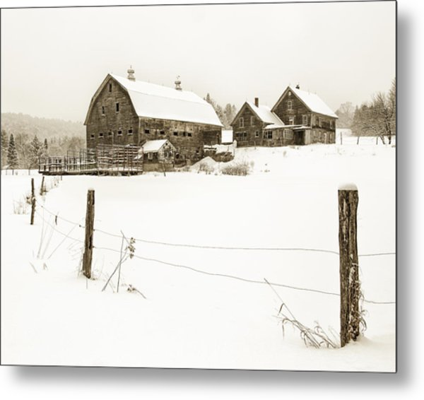 Till Dawn Farm Metal Print