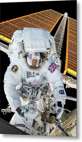 Tim Peake's Spacewalk Metal Print