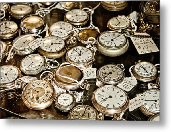 Time For Sale Metal Print