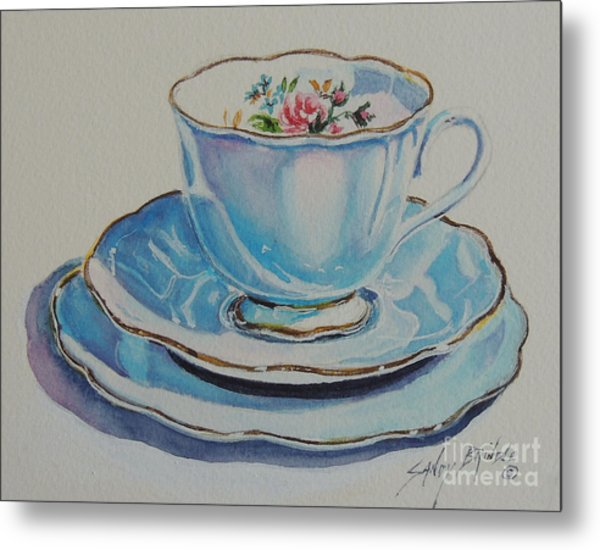 Time For Tea Sold Metal Print