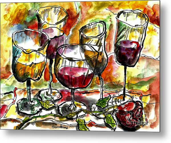 Time For Wine Tasting Metal Print
