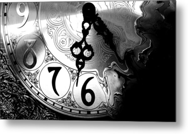 Time Is An Illusion Metal Print