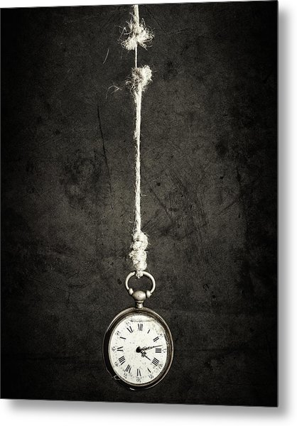 Time Is Up Metal Print by Sergio Rapagn??