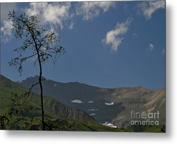 Time Stands Still High Alpine Region Austria Metal Print