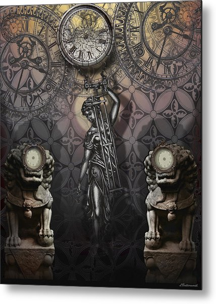 Timepiece Metal Print by Larry Butterworth