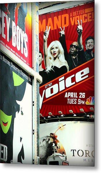 Times Square Billboards Metal Print