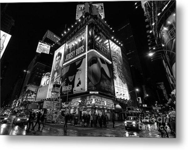 Times Square Black And White II Metal Print