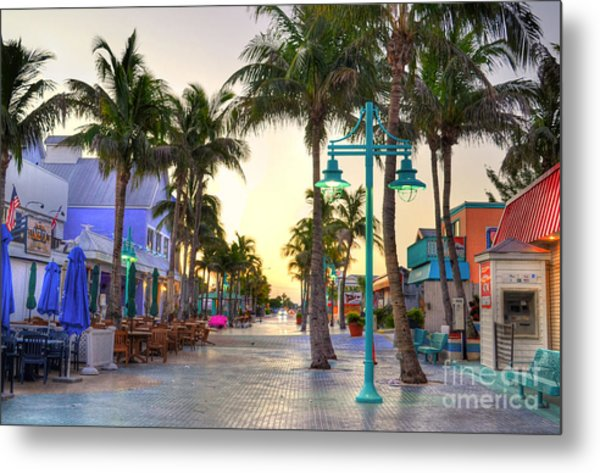 Times Square Fort Myers Beach Metal Print