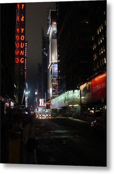 Times Square From 7th Ave Metal Print