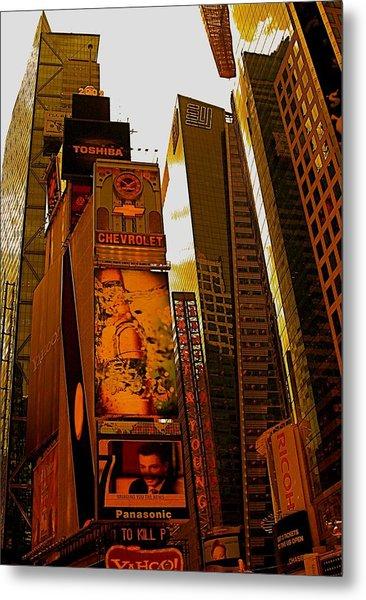Times Square In Manhattan Metal Print