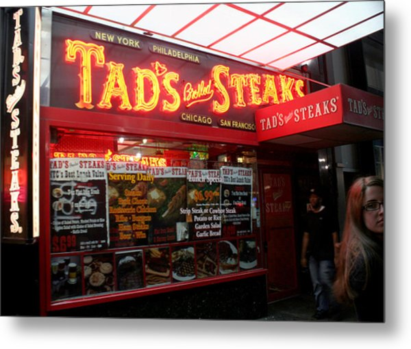 Times Square In New York City Metal Print