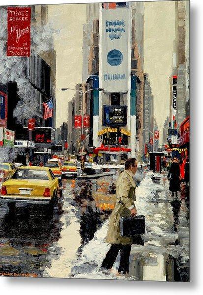 Times Square '95 Metal Print by Michael Swanson