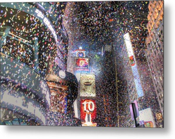 Times Square - New Years  Metal Print