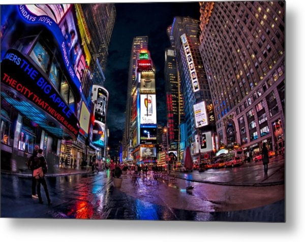 Times Square New York City The City That Never Sleeps Metal Print
