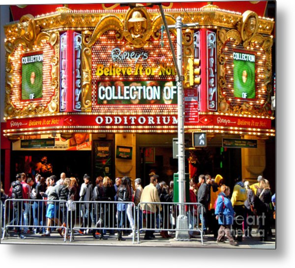 Times Square Ripleys Odditorium Metal Print